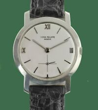 Vintage 1956 PATEK PHILIPPE 18K Gold Men's Calatrava Style Watch Ref. 2506  1