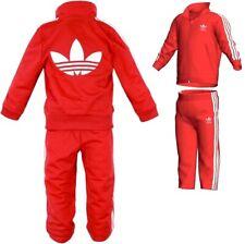 Adidas Jogginganzug Trainingsanzug Kinder Baby Sport Anzug Set Geschenk rot/weiß