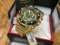 24265 Invicta Excursion 52mm Mens Quartz Chronograph 18KT GP SS Bracelet Watch