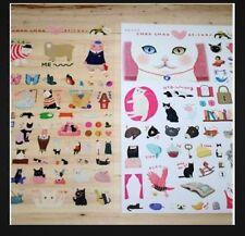 Korea Kawaii Rare Cute Jetoy Cat Kitty  Decoration Sticker Set-2 sheets(K)