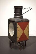 VTG German Railroad Kerosine Lantern Train Lamp Railway Signal Light Electrified