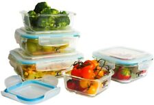 New listing 10 Pcs Kitchen Glass Food Storage Containers Set withTransparent Lids, Bpa Free