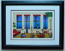 FANCH LEDAN BALCONY OVER BAHIA SERIGRAPH SIGNED #401/450 FRAMED W/COA