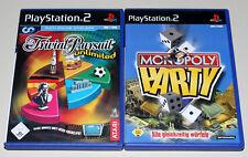 2 ps2 juegos set-Monopoly fiesta & trivial Unlimited-PlayStation 2
