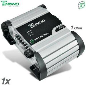 1x Timpano TPT-1400EQ 1 Ohm Brazilian Amplifier 1400W RMS Car Audio Digital Amp
