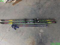 K2 TRIAXIALTR'COMP 7.8  SKIES WITH MARKER M48 BINDINGS & 2 SENTREK POLES - USED
