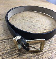 Women's Belt Black Gold Buckle Waist For Dress 35.5 inches