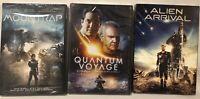 3 SEALED Dvds, Alien Arrival, Moontrap Target Earth, Quantum Voyage