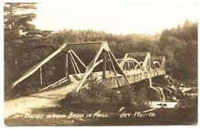 Jay ME Oldest Wooden Bridge in Maine RPPC Real Photo Postcard