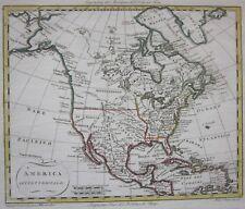 1807 AMERICA SETTENTRIONALE original map Barbiellini North America Canada Alaska