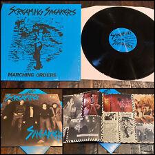 SCREAMING SNEAKERS Marching Orders LP Vinyl Booklet 300-NY loose circus of power