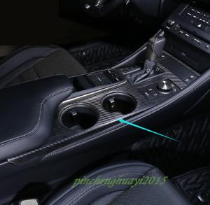 Real Carbon Fiber Gear Shift Box Panel Cover Trim For Lexus RC200/300 2015-2019