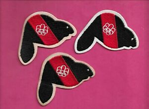 3 X RARE VINTAGE 1976 MONTREAL SUMMER OLYMPICS BEAVER PATCH (INV# D1514)