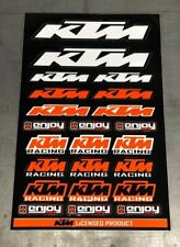 KTM  OEM  Sticker Decal Sheet Graphics SX SXF XC EXC By Enjoy Mfg  -  BLACK