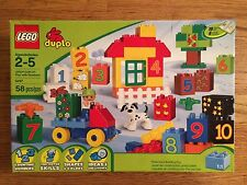 LEGO 5497 DUPLO Play with Numbers 58 piece building set New in Box!