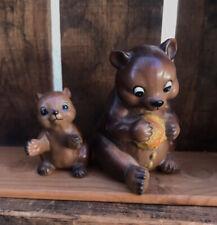 vintage bear figurines Lot Of 2