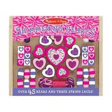 Melissa and Doug - Wooden Shimmering Hearts Bead Set NEW