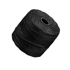 Beadsmith Tex400 S-Lon 0.9mm Black Cord 32m (35 Yards) (P64/1)