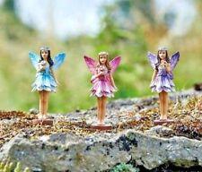 3 x Fairy Garden Pixie Statues Outdoor Ornaments Home Decoration Sculpture NEW
