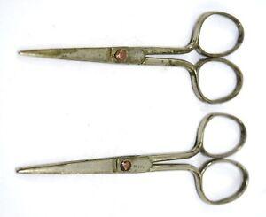 Vintge scissors, Kids scissors, Retro scissors, Brass safety scissors.G47-231 US