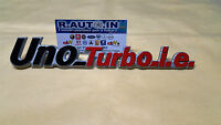 FIAT UNO TURBO I.E.TARGHETTA FREGIO  REAR BADGE EMBLEM POSTERIORE TURBO IE