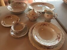 Wawel Vintage Poland Rose Garden Six Plate Setting With Serving Pieces