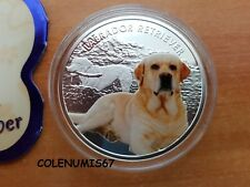 1 DOLLAR NIUE 2014 - LABRADOR RETRIEVER - MANS BEST FRIENDS DOGS - PLATA SILBER