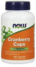 NOW Foods CRANBERRY CAPS 700mg Vitamin C 100 Veg Capsules