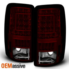 2000-2006 Chevy Suburban Tahoe GMC Yukon XL Red Smoked LED Tail Lights Lamps L+R