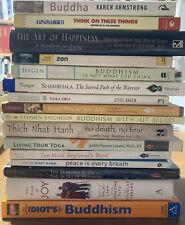 Buddhism 16 Book Lot Suzuki Dalai Lama Thich Nhat Hahn Zen Meditation Yoga