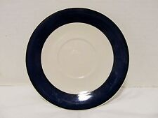 Vintage GIBSON Everyday China White/ Cobalt Blue SAUCER LQQK!