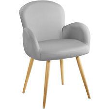 Chaise de design siège de bureau salon retro chef salle manger rembourré nouveau