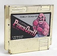 Nintendo FC Punch-Out!! Gold Cartridge Famicom Rare Item Used