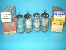 1x DAF96 + 1x DF96 + 1x DL96 + 1x DK96  valvole provate. Tube Lampe Röhre Radio