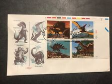 #2422-2425 Fdc 1989 Artmaster 25c L976 Dinosaurs Ua Tyrannosaurus Brontosaurus