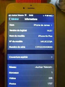 Apple iPhone 6s Plus - 128 Go - Argent (Désimlocké) A1687  + Ecouteurs, Chargeur