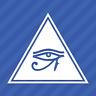 Eye Of Horus Triangle Vinyl Decal Sticker Egyptian Pagan