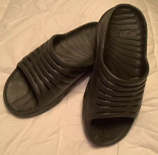 HOKA ONE Unsex Womens /Mens Recovery Slide Black Sandal Size 10W / Men's 8