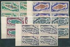 284818) TAAF 4erBlöcke Nr.60-64** Fische