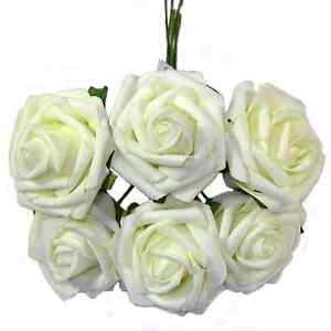 2 LARGE BUNCHES OF ARTIFICIAL FOAM ROSES WEDDING FLOWERS CRAFT .DECOR