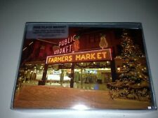 Pike Place Market Seattle WA Christmas/Holiday Cards Pack Of 12 &13 Envelope NEW