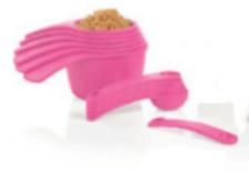 Tupperware Measure Measuring Cups & Spoons Set 2017 Design Confident Pink New