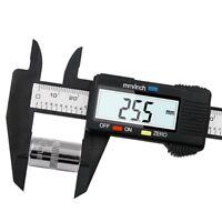 6 Inch LCD Carbon Fiber Measuring Tool Gauge Micrometer Vernier Calipers