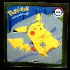 POKEMON STICKER ENGLISH CARD 50X50 1999 GOLD N° R08 PIKACHU AT THE HOSPITAL