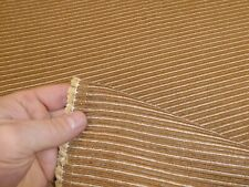 Job Lot - 10m of GOLDEN BEIGE - Ribbed Curtain / Upholstery Fabric