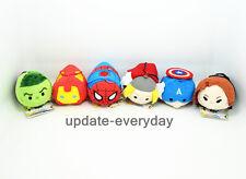 6pcs/set New TSUM TSUM The Avengers Keychain Plush Toy Captain America Iron Man