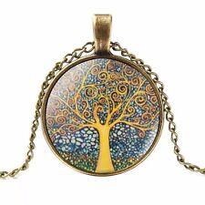 ALBERO della vita Ciondolo Collana/bronzo effetto gioielli idea regalo Boho Hippie