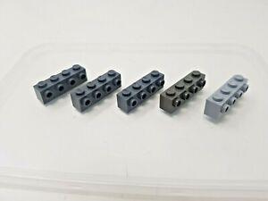 5 x LEGO Grey Bricks with Studs on One Side - 1x4 - 30414