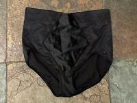 0521 FLEXEES Maidenform Black XL Shapewear Easy-Up Firm Control Brief #2354