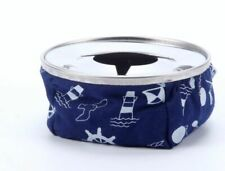 Bean Bag Ash Tray With Stainless Steel Top, Bean Ashtray-Blue Windproof Ashtray